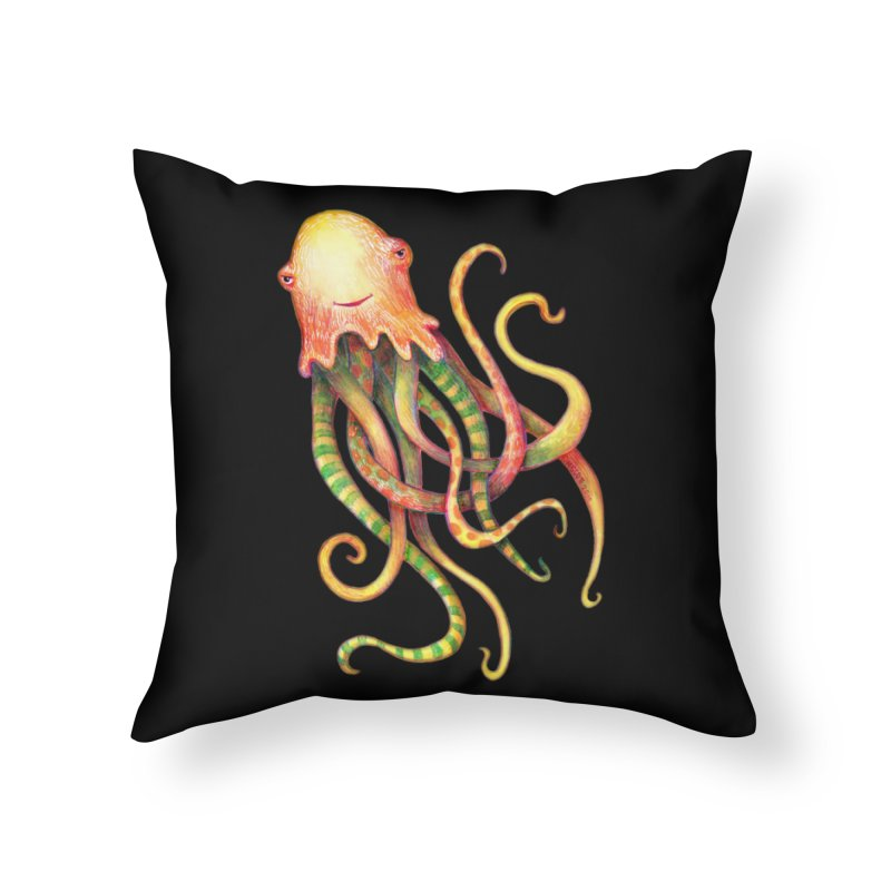 Octopus 2018 Home Throw Pillow by dotsofpaint threads