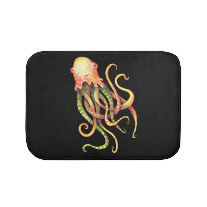Octopus 2018 Home Bath Mat by dotsofpaint threads
