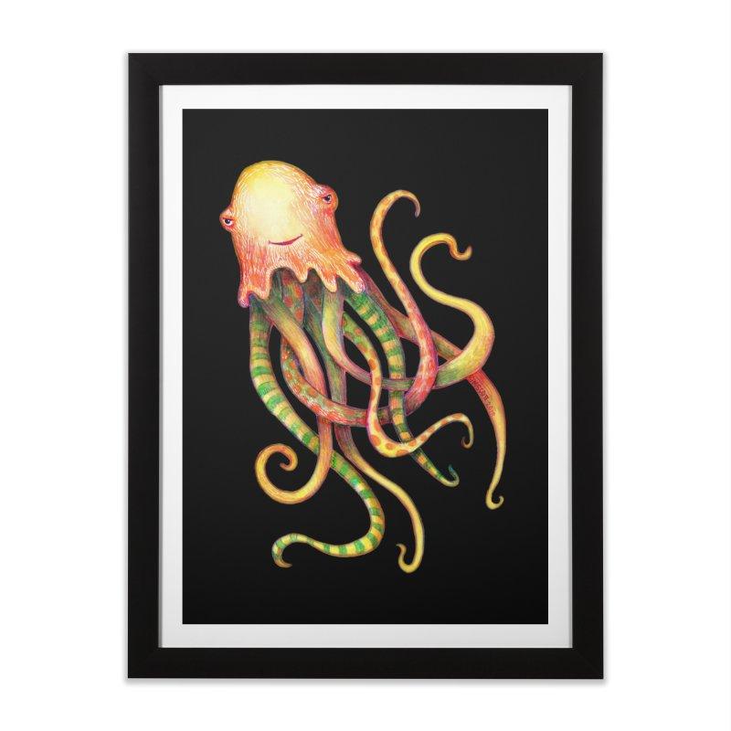 Octopus 2018 Home Framed Fine Art Print by dotsofpaint threads