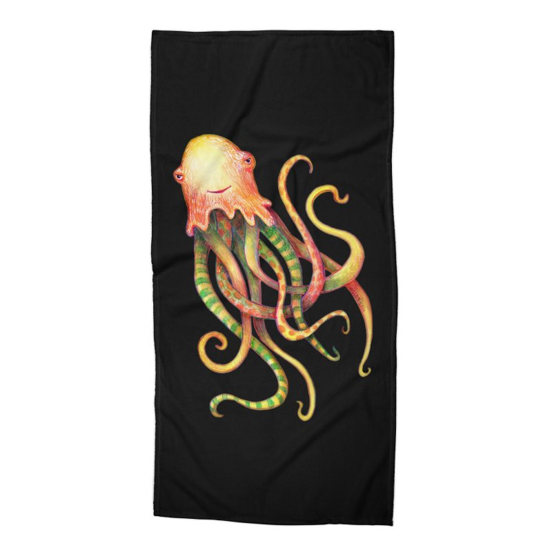 Octopus 2018 Accessories Beach Towel by dotsofpaint threads
