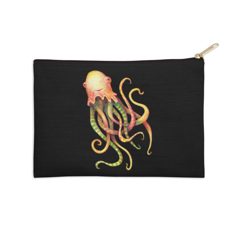 Octopus 2018 Accessories Zip Pouch by dotsofpaint threads