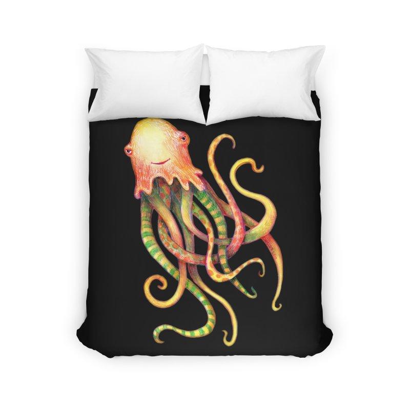 Octopus 2018 Home Duvet by dotsofpaint threads