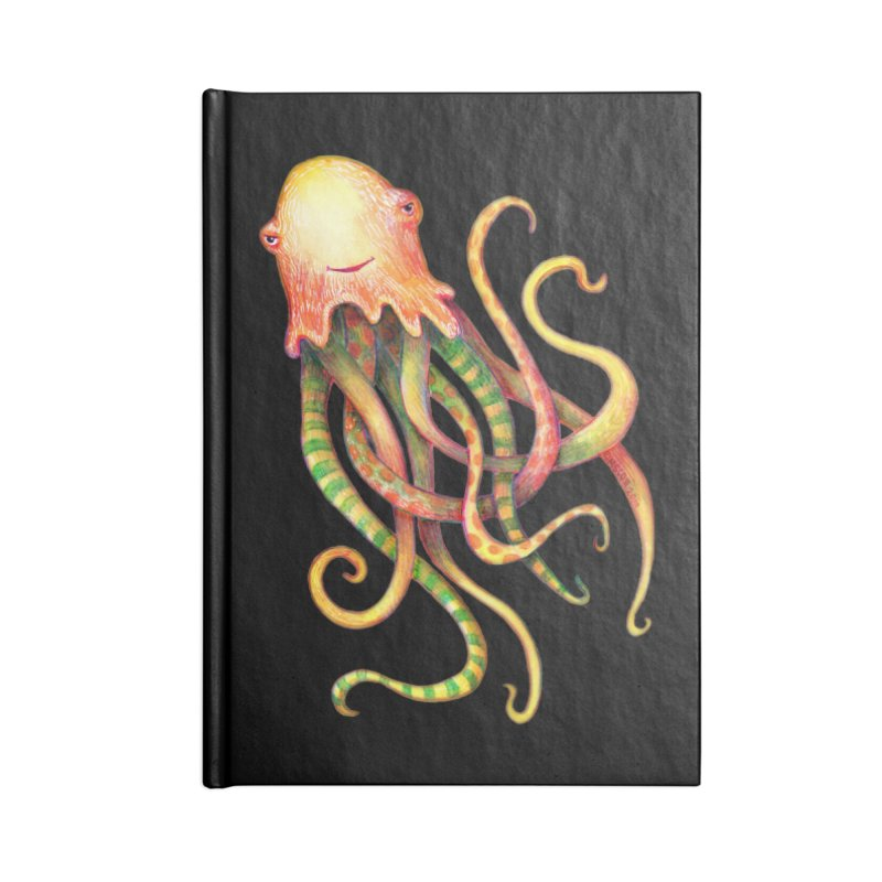 Octopus 2018 Accessories Blank Journal Notebook by dotsofpaint threads
