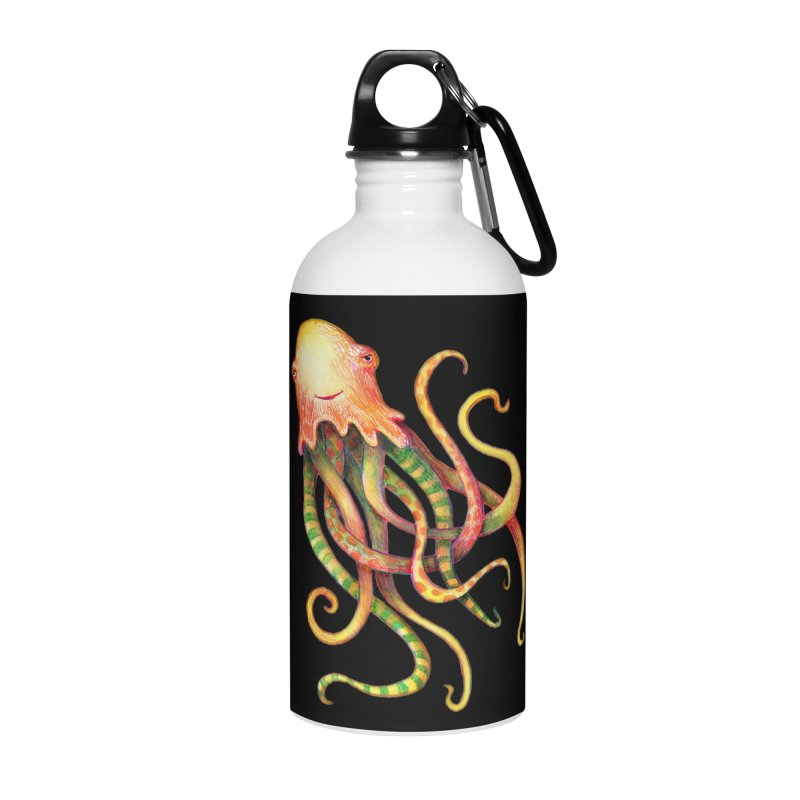 Octopus 2018 Accessories Water Bottle by dotsofpaint threads