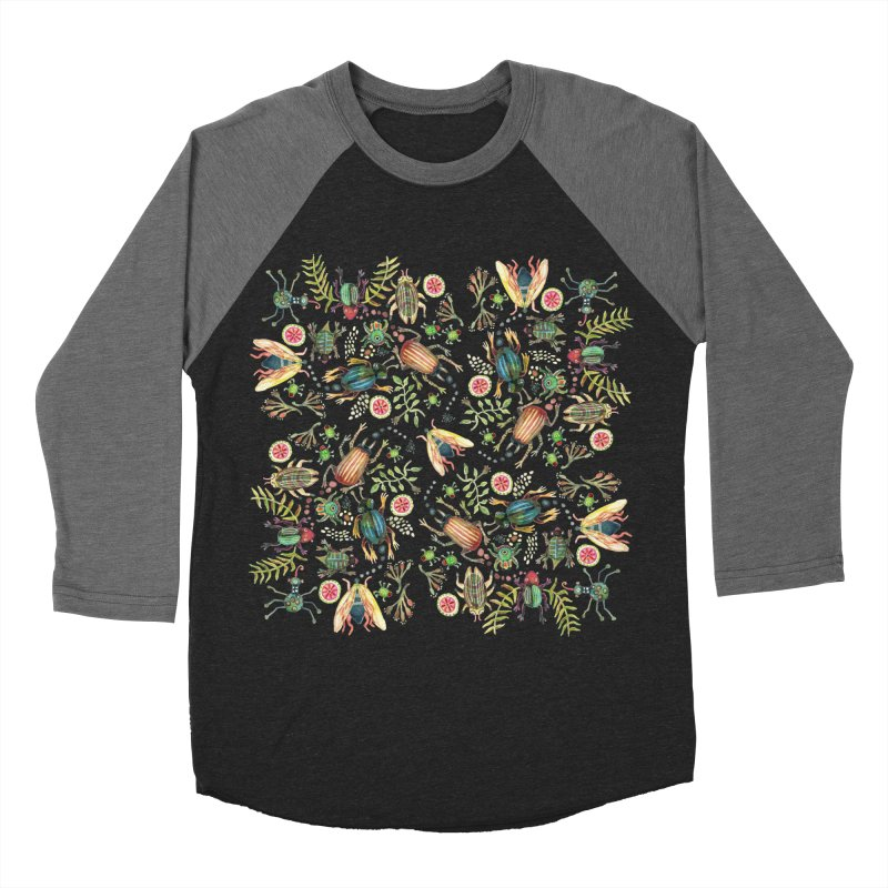 Bugs Galore Men's Baseball Triblend Longsleeve T-Shirt by dotsofpaint threads