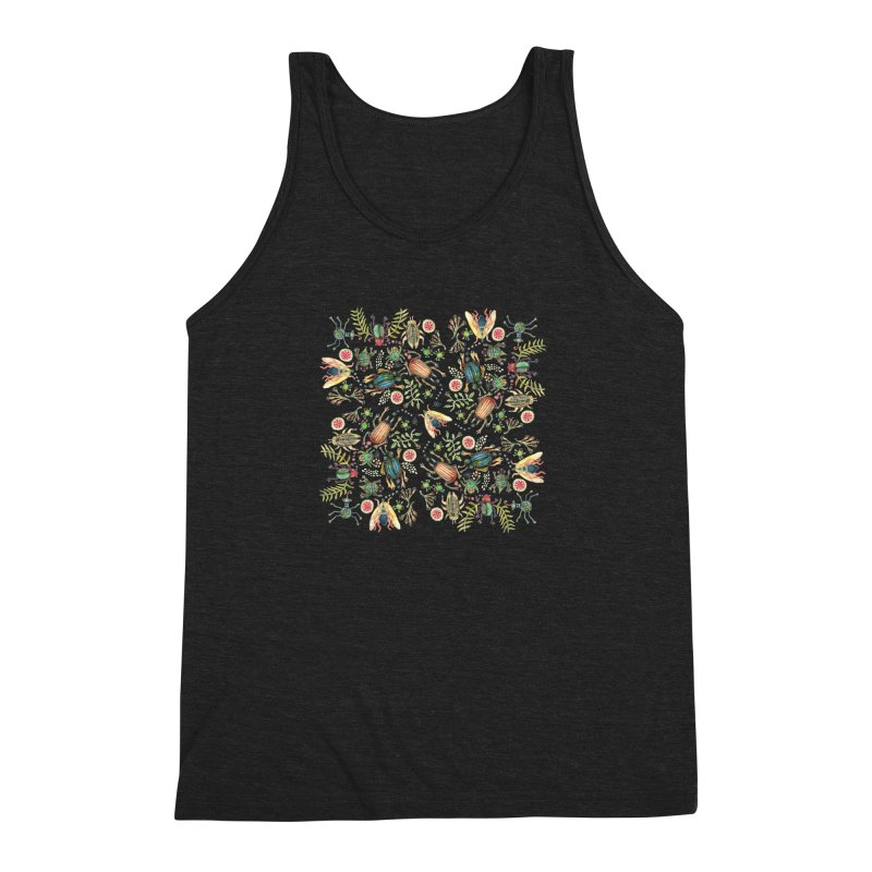 Bugs Galore Men's Triblend Tank by dotsofpaint threads