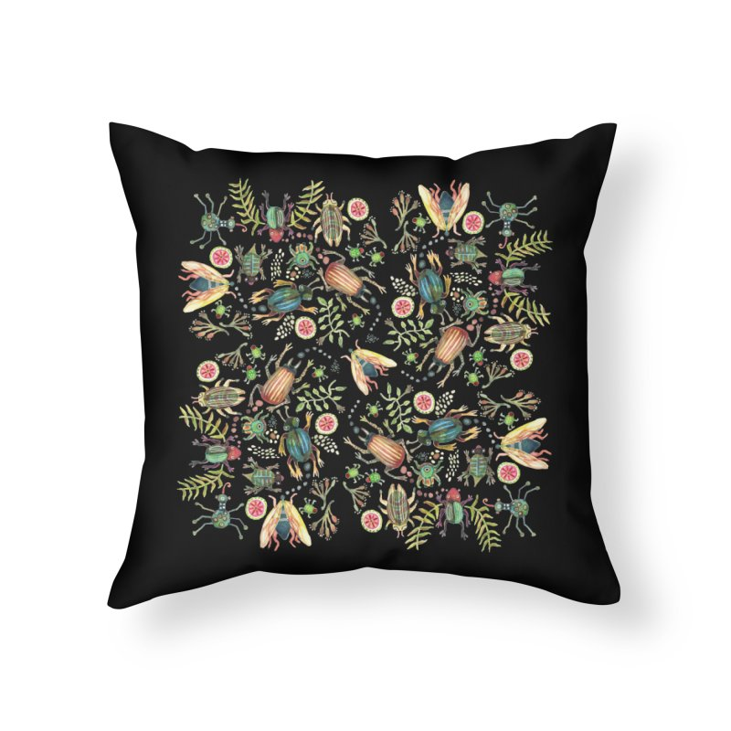 Bug Shoes Home Throw Pillow by dotsofpaint threads