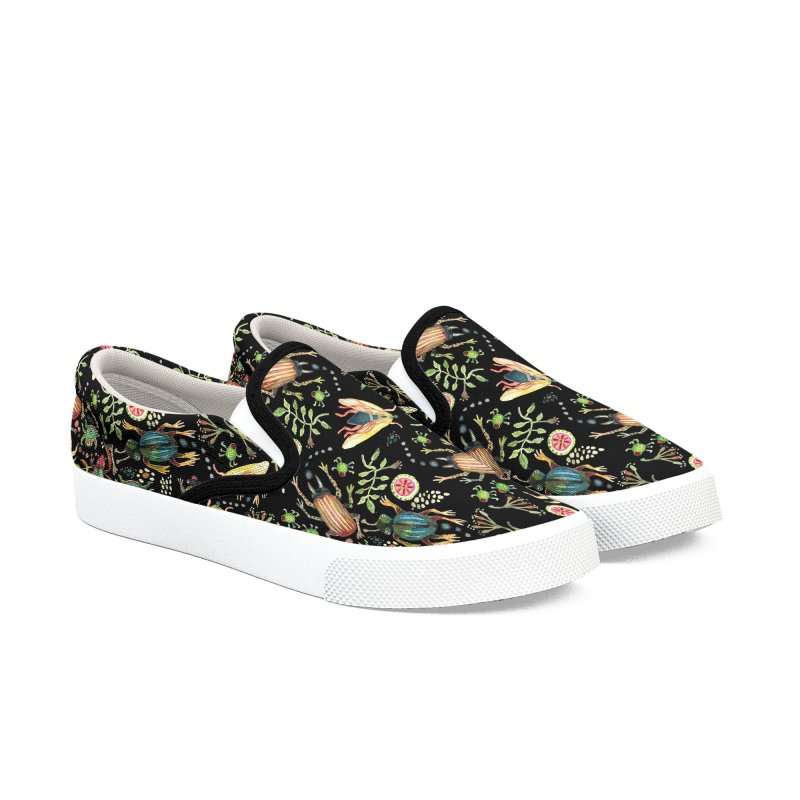 BUGS GALORE Men's Slip-On Shoes by dotsofpaint threads