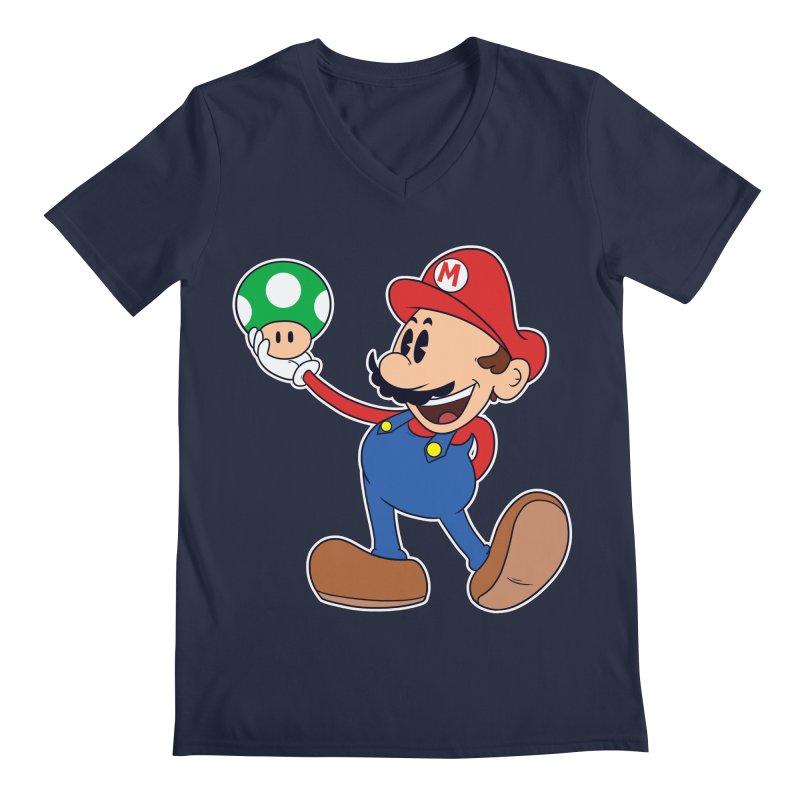 Pop Retrô Mario Men's V-Neck by douglasstencil's Artist Shop