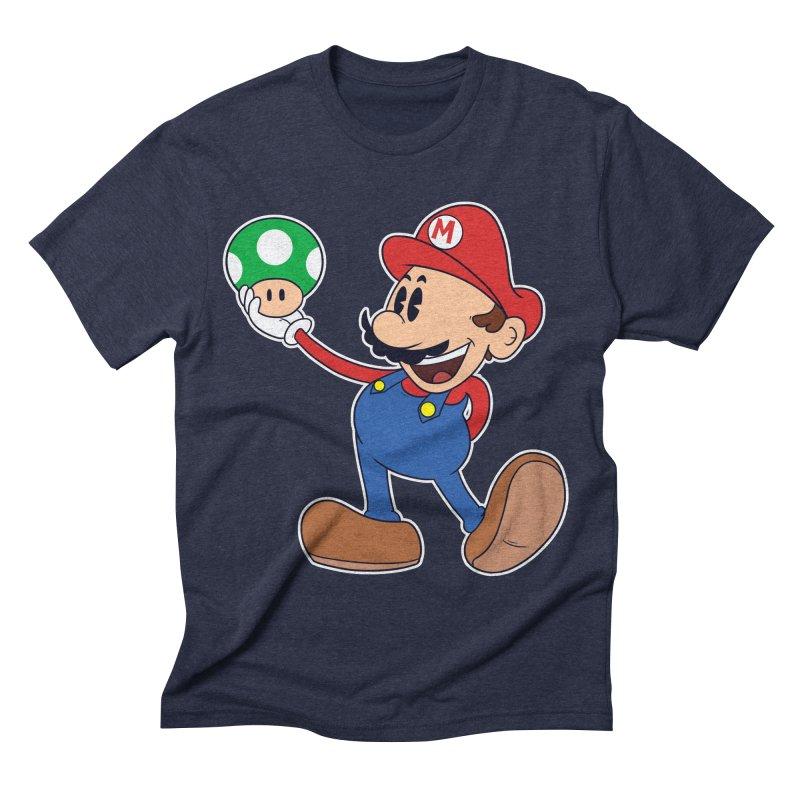 Pop Retrô Mario Men's Triblend T-shirt by douglasstencil's Artist Shop
