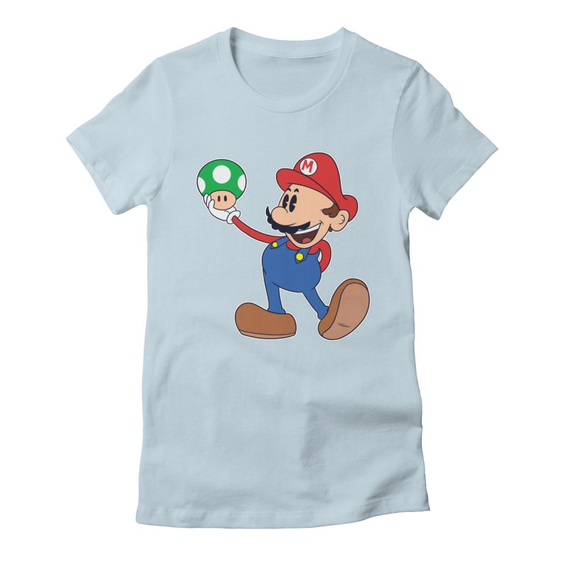 Pop Retrô Mario Women's Fitted T-Shirt by douglasstencil's Artist Shop