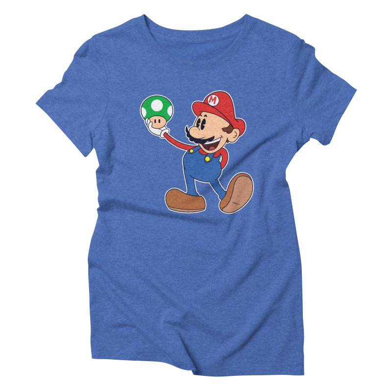 Pop Retrô Mario Women's Triblend T-shirt by douglasstencil's Artist Shop