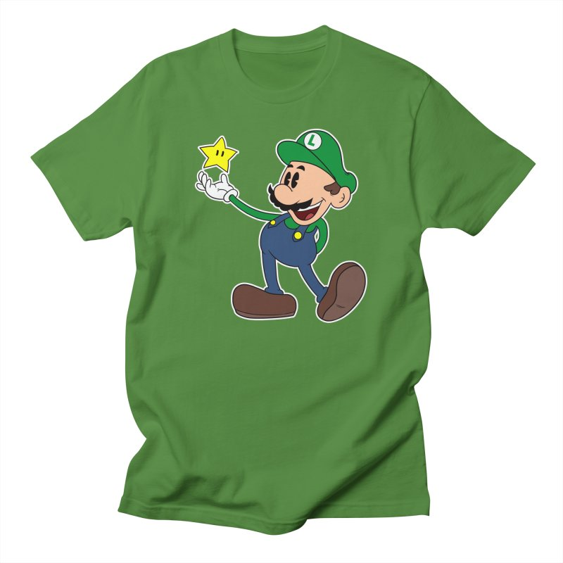 Pop Retro Luigi Men's T-shirt by douglasstencil's Artist Shop