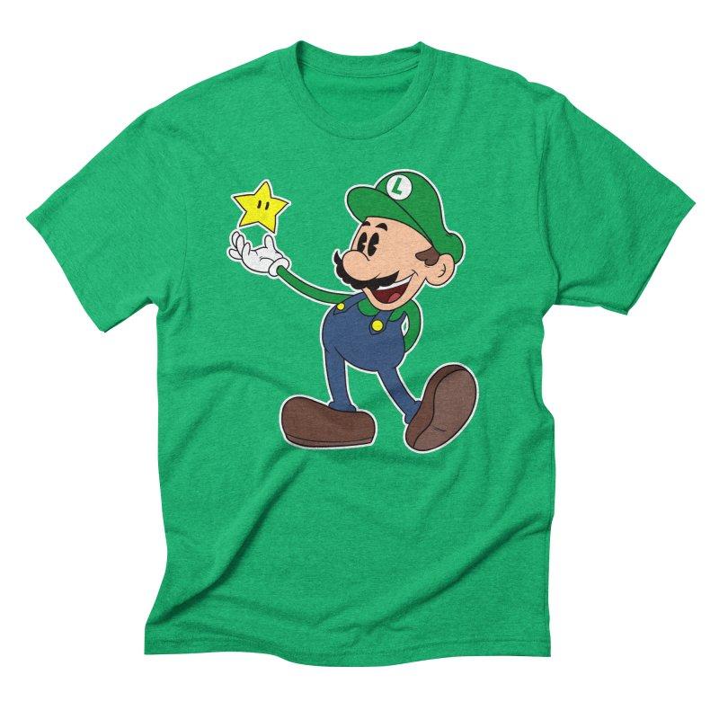 Pop Retro Luigi Men's Triblend T-shirt by douglasstencil's Artist Shop