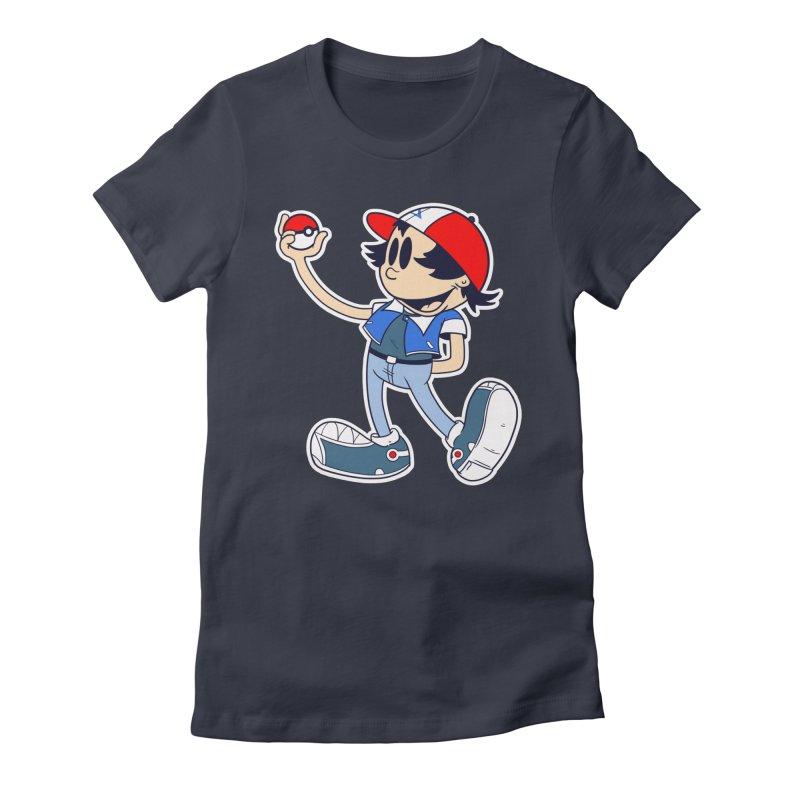Pop Retro Ash Women's Fitted T-Shirt by douglasstencil's Artist Shop