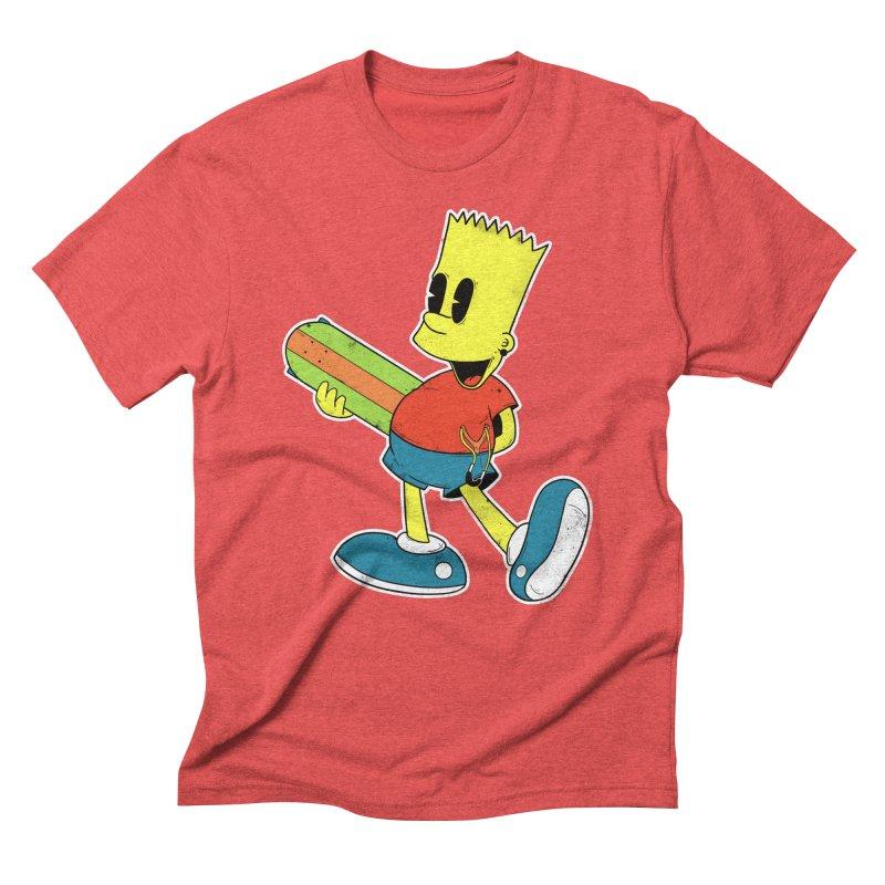 Pop Retro Bart Men's Triblend T-shirt by douglasstencil's Artist Shop