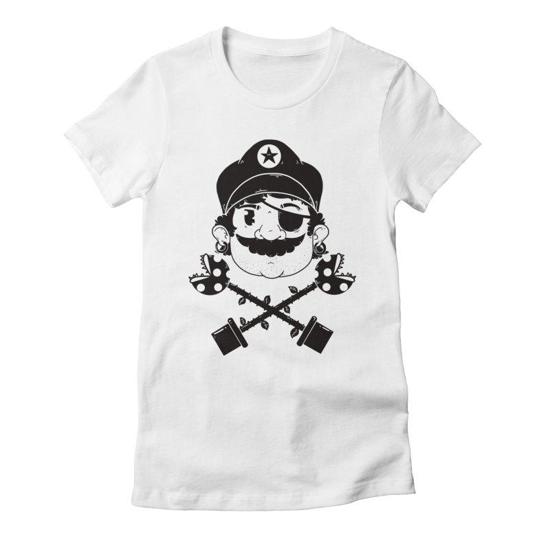 Captain Women's Fitted T-Shirt by douglasstencil's Artist Shop