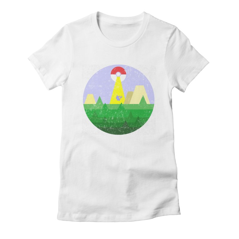 Abduction Women's Fitted T-Shirt by douglasstencil's Artist Shop