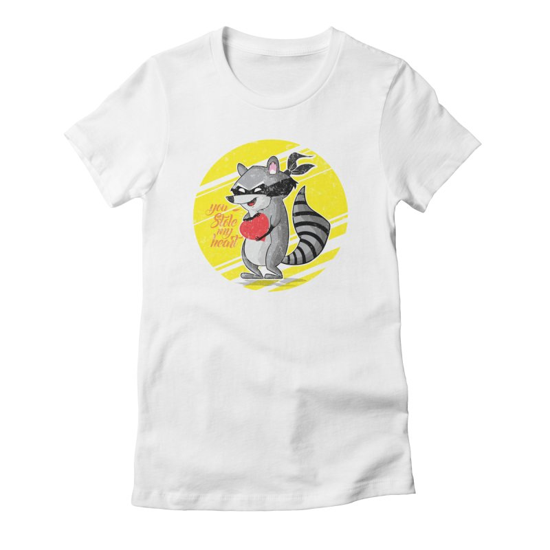 You Stole My Heart Women's Fitted T-Shirt by douglasstencil's Artist Shop