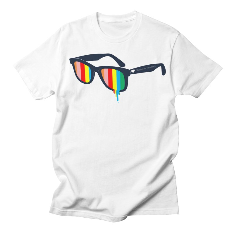 Glasses for Pessimists Men's T-Shirt by douglasstencil's Artist Shop