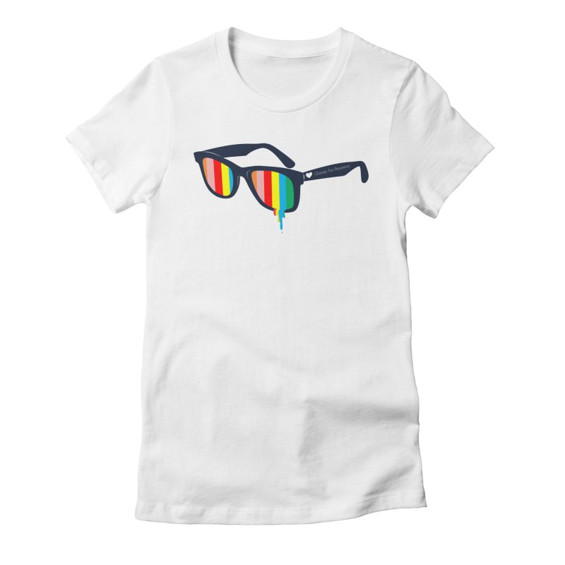 Glasses for Pessimists Women's Fitted T-Shirt by douglasstencil's Artist Shop