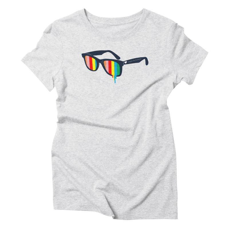 Glasses for Pessimists Women's Triblend T-Shirt by douglasstencil's Artist Shop