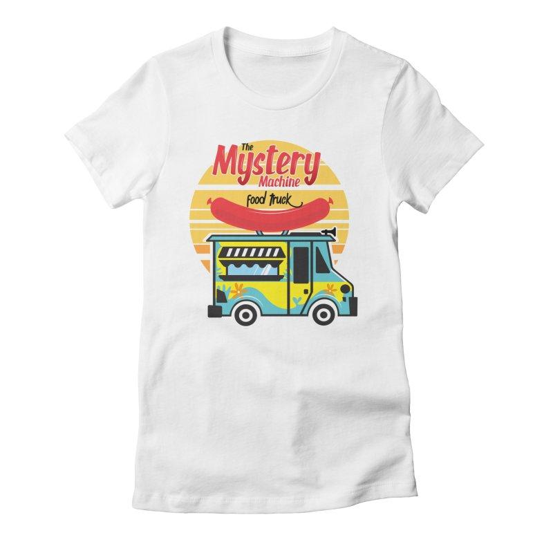 mystery Machine Women's Fitted T-Shirt by douglasstencil's Artist Shop
