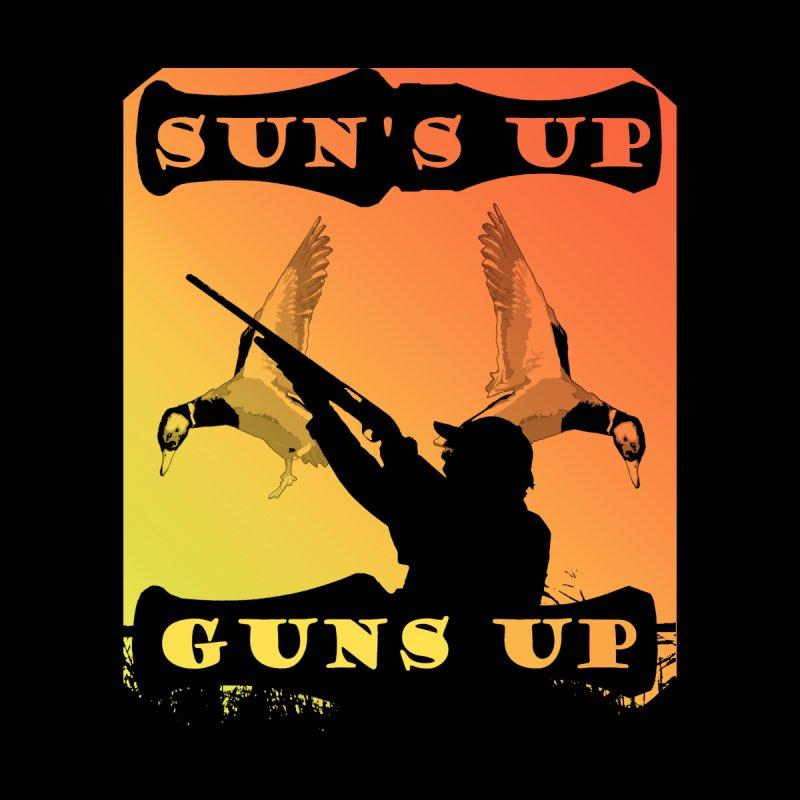 Sun's UP Guns Up Ducks Men's T-Shirt by Dover Design Works' Artist Shop