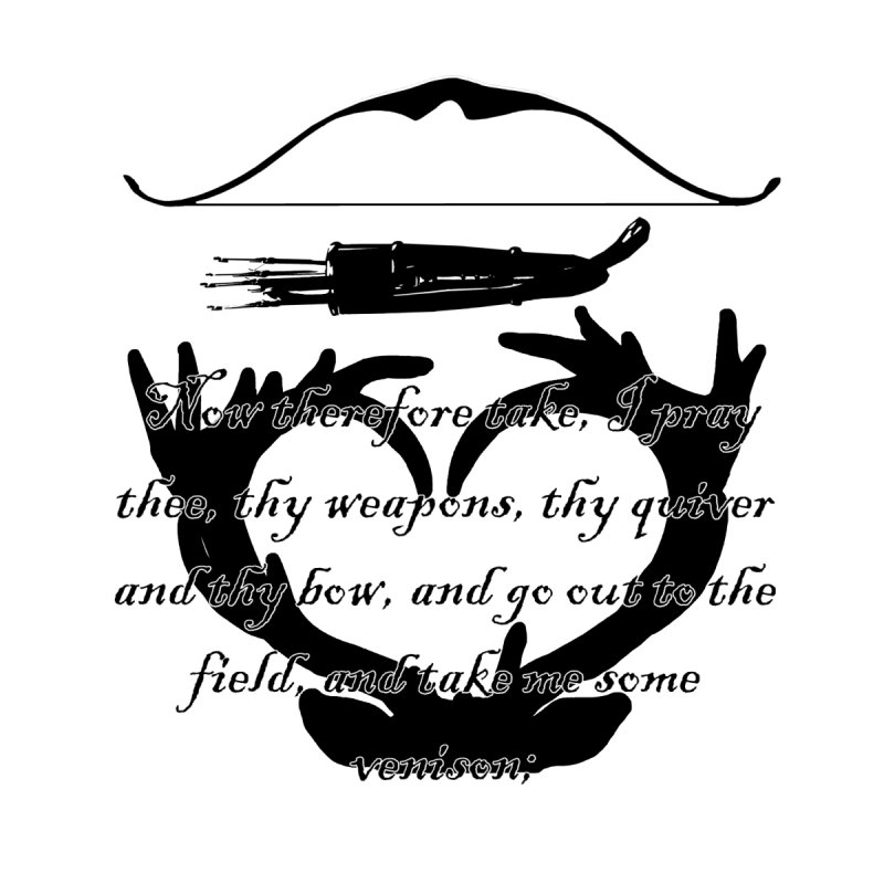 Bow Hunter's Verse Men's T-Shirt by Dover Design Works' Artist Shop