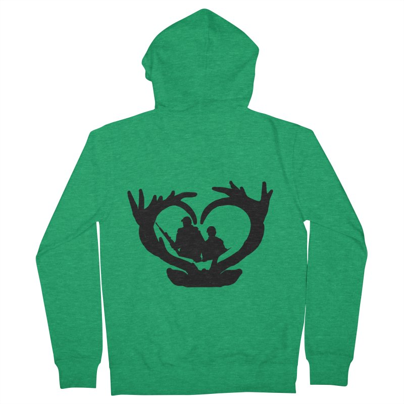 Hunting Heart Father and Child Men's Zip-Up Hoody by Dover Design Works' Artist Shop