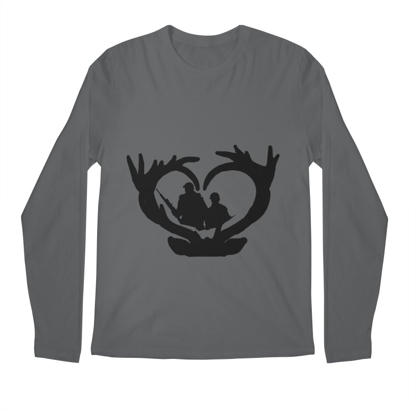 Hunting Heart Father and Child Men's Longsleeve T-Shirt by Dover Design Works' Artist Shop