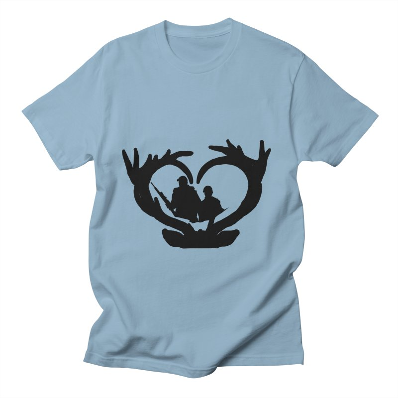 Hunting Heart Father and Child Men's T-Shirt by Dover Design Works' Artist Shop