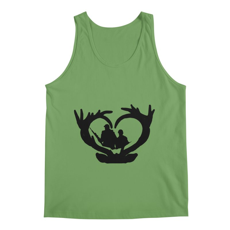 Hunting Heart Father and Child Men's Tank by Dover Design Works' Artist Shop