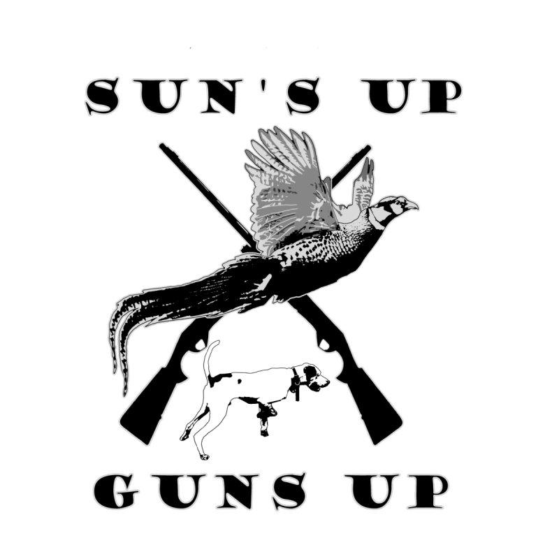 Sun's UP Guns UP Pheasant Men's T-Shirt by Dover Design Works' Artist Shop