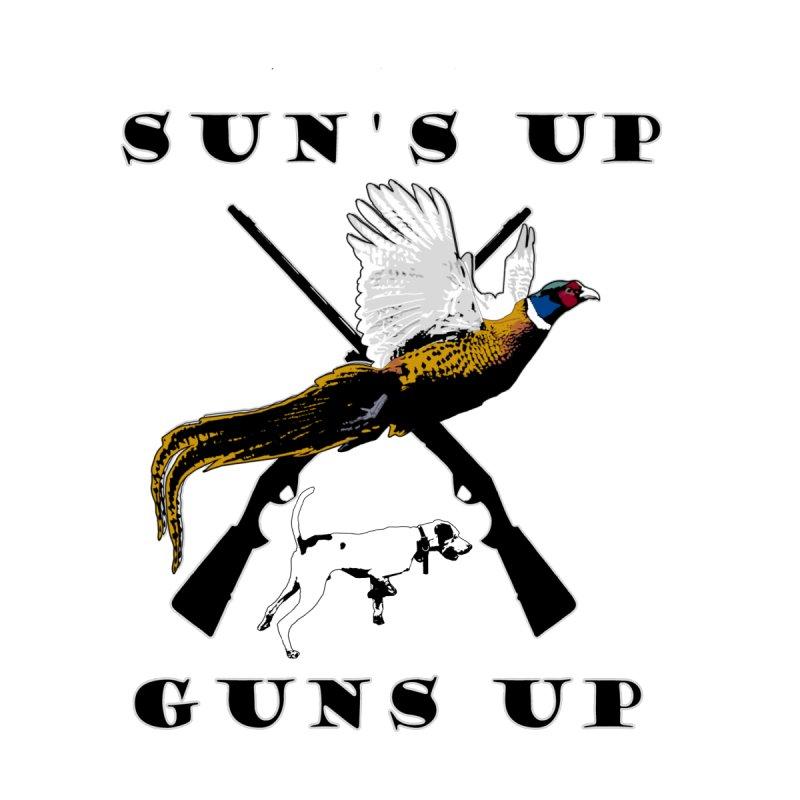 Sun's Up Guns UP Pheasant with Color Men's T-Shirt by Dover Design Works' Artist Shop