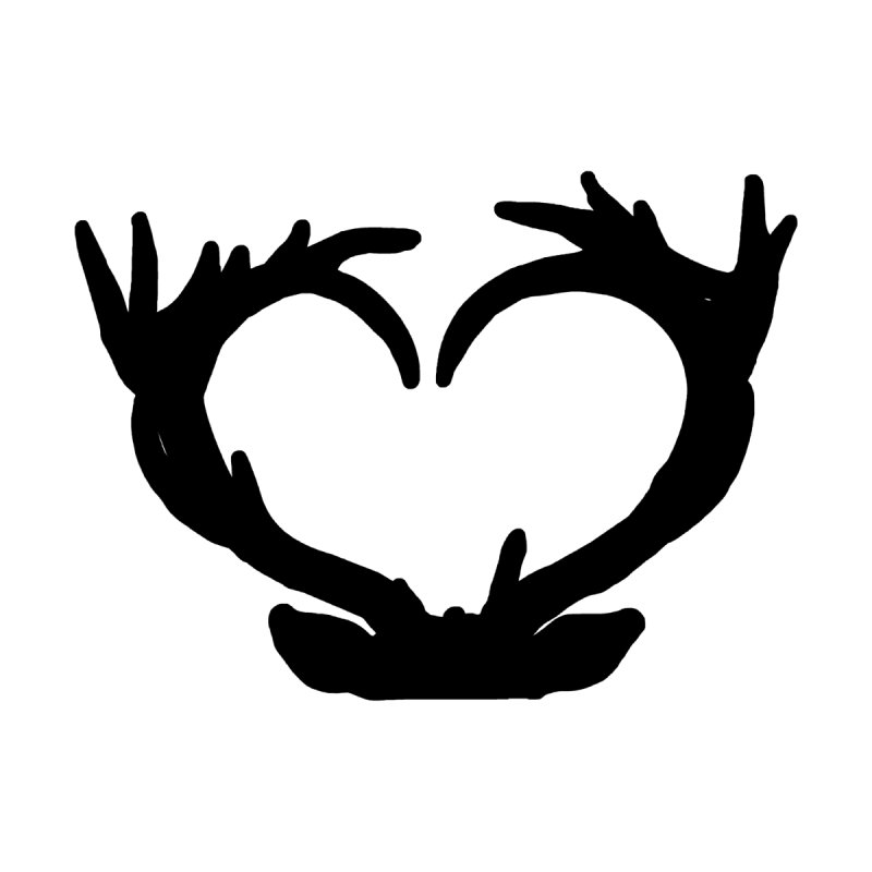Antler Heart Men's T-Shirt by Dover Design Works' Artist Shop