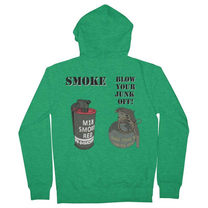 Smoke or Blow Your Junk Off Men's Zip-Up Hoody by Dover Design Works' Artist Shop