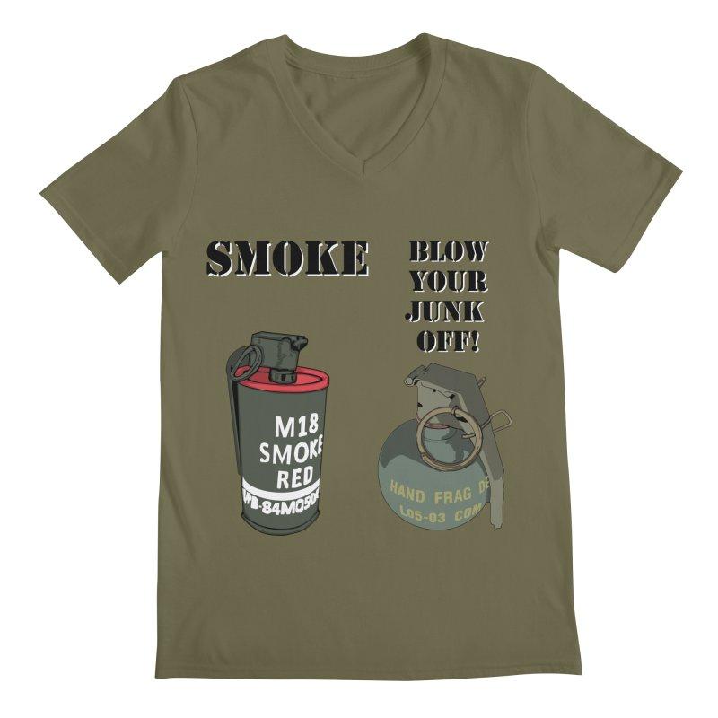 Smoke or Blow Your Junk Off Men's V-Neck by Dover Design Works' Artist Shop