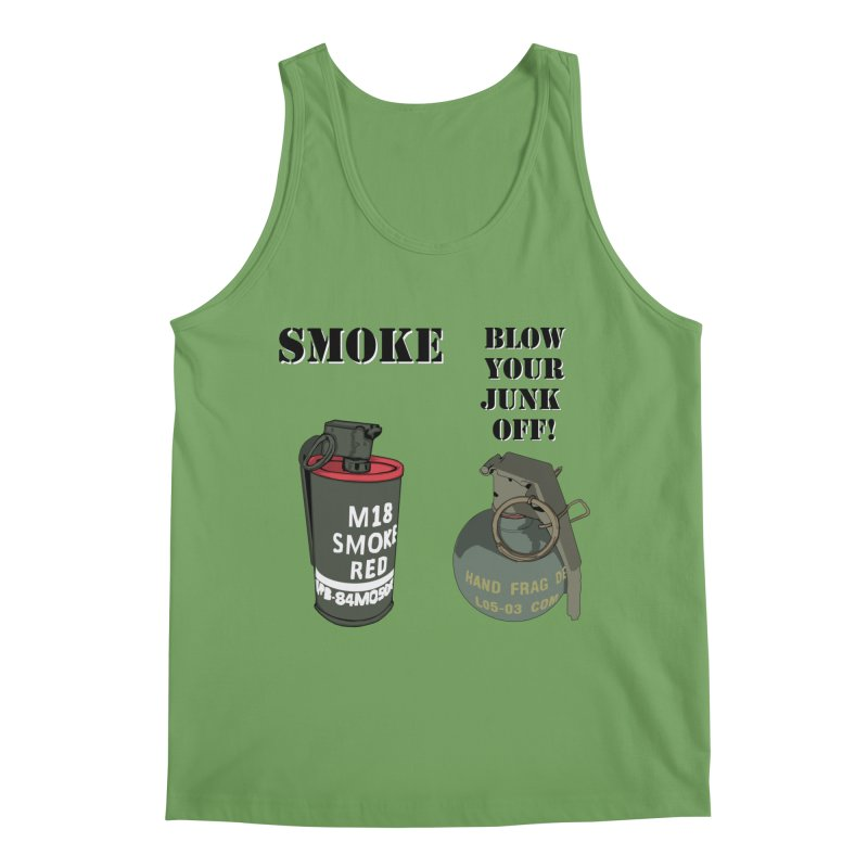 Smoke or Blow Your Junk Off Men's Tank by Dover Design Works' Artist Shop
