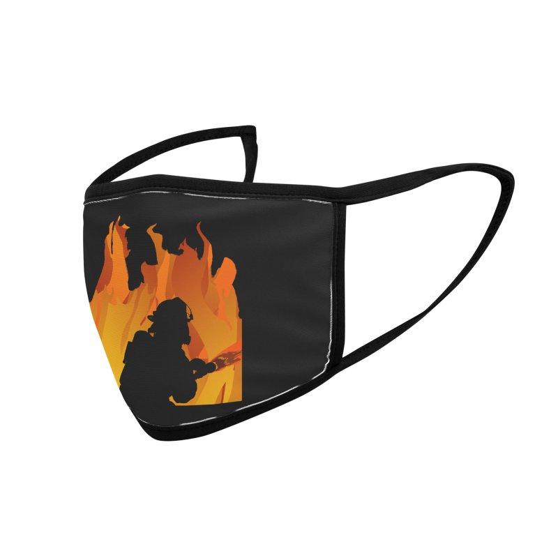 Firefighter Battling a Blaze Accessories Face Mask by Dover Design Works' Artist Shop