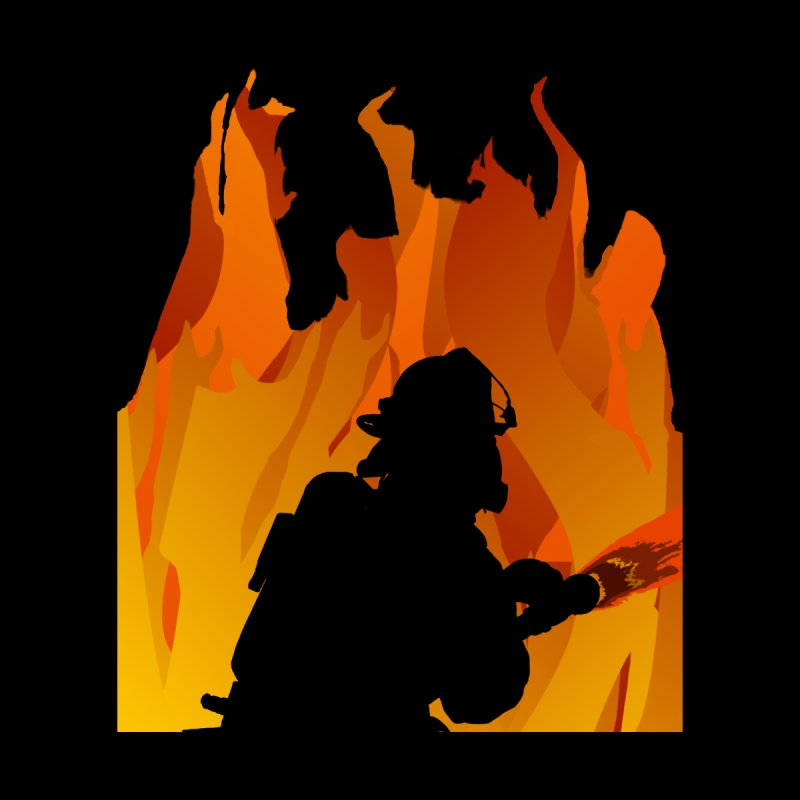 Firefighter Battling a Blaze Men's T-Shirt by Dover Design Works' Artist Shop