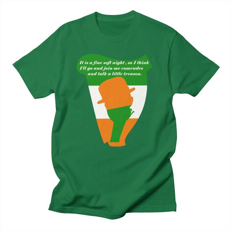 Let's talk a little treason. Men's T-Shirt by Dover Design Works' Artist Shop