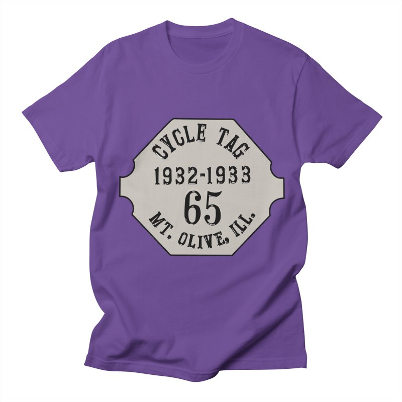 Old Style Cycle Tag Men's T-Shirt by Dover Design Works' Artist Shop