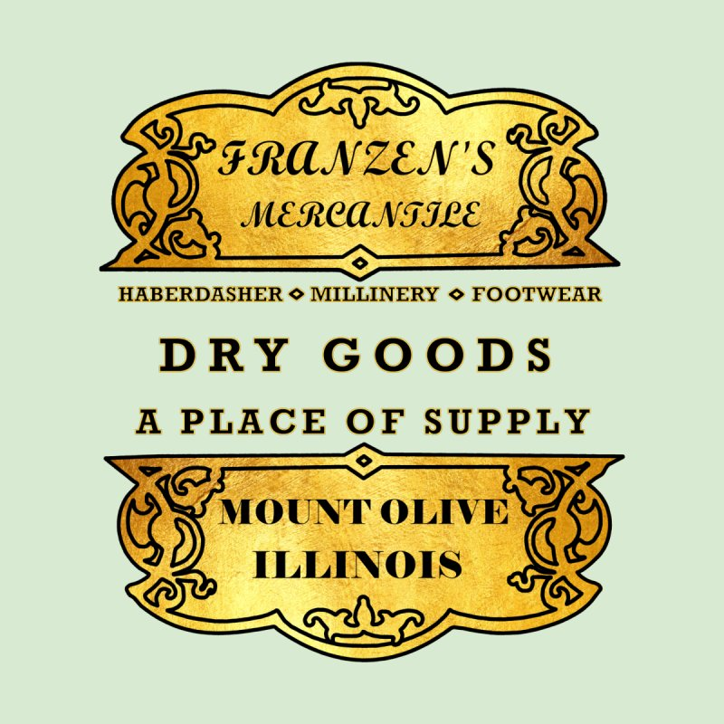 Franzen's Mercantile Men's T-Shirt by Dover Design Works' Artist Shop