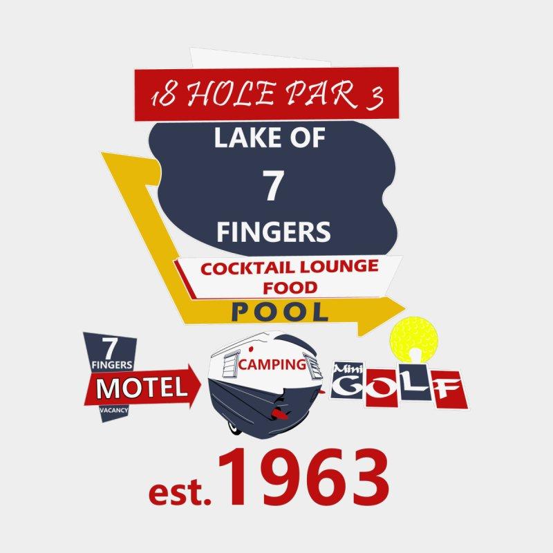 Lake of 7 Fingers Men's T-Shirt by Dover Design Works' Artist Shop