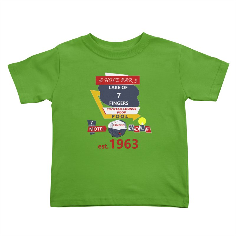 Lake of 7 Fingers Kids Toddler T-Shirt by Dover Design Works' Artist Shop