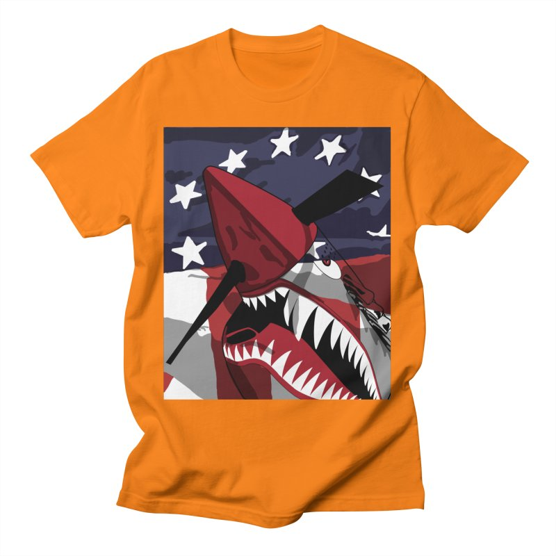 Fly Tiger Ghost Plane Men's T-Shirt by Dover Design Works' Artist Shop