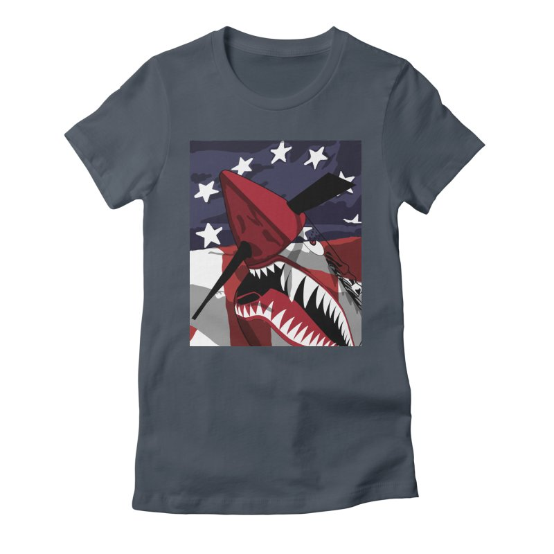 Fly Tiger Ghost Plane Women's T-Shirt by Dover Design Works' Artist Shop