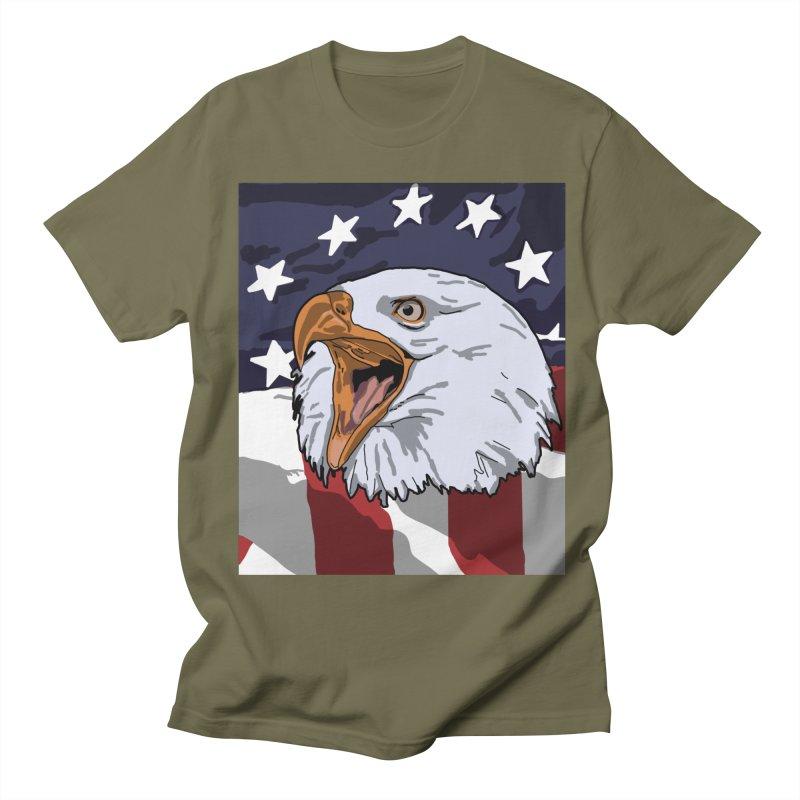 Screaming Eagle Men's T-Shirt by Dover Design Works' Artist Shop