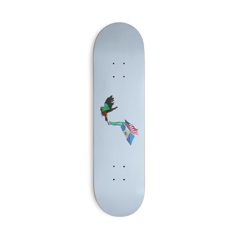 Guatemalan Bird with US and Guatemala Flags Accessories Skateboard by Dover Design Works' Artist Shop